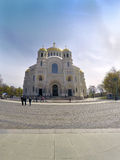 Orthodox Naval cathedral of St. Nicholas in Kronshtadt, Saint-petersburg Russia Royalty Free Stock Photography