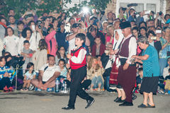 Orthodox night procession on Nestenar games in Bulgaria Royalty Free Stock Photo