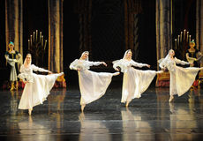 Orthodox nun-The Swan Lakeside-ballet Swan Lake. In December 20, 2014, Russia's St Petersburg Ballet Theater in Jiangxi Nanchang performing ballet Swan Lake Stock Photography