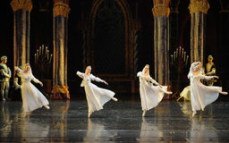 Orthodox nun-The Swan Lakeside-ballet Swan Lake. In December 20, 2014, Russia's St Petersburg Ballet Theater in Jiangxi Nanchang performing ballet Swan Lake Royalty Free Stock Photos
