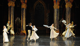 Orthodox nun-The Swan Lakeside-ballet Swan Lake. In December 20, 2014, Russia's St Petersburg Ballet Theater in Jiangxi Nanchang performing ballet Swan Lake Stock Image