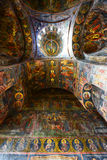 Orthodox painted wall of Cozia Monastery Stock Images