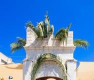 Orthodox Palm Sunday in Nazareth stock photo
