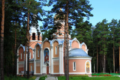 Orthodox parish in pain forest. Stock Photos