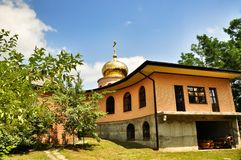 Orthodox parish of Saint Nicholas Church in the village of Saratovskaya Royalty Free Stock Photography