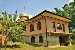 Orthodox parish of Saint Nicholas Church in the village of Saratovskaya Stock Images