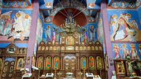 The Orthodox parish of St. Nicholas Altar. POLAND, SZCZECIN - 30 JUNE 2015: The Orthodox parish of St. Nicholas Altar stock images