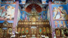The Orthodox parish of St. Nicholas Altar. POLAND, SZCZECIN - 30 JUNE 2015: The Orthodox parish of St. Nicholas Altar Stock Images