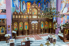 The Orthodox parish of St. Nicholas Altar A. POLAND, SZCZECIN - 30 JUNE 2015: The Orthodox parish of St. Nicholas Altar A stock photos