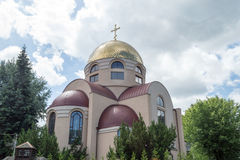 The Orthodox parish of St. Nicholas. POLAND, SZCZECIN - 30 JUNE 2015: The Orthodox parish of St. Nicholas stock photography