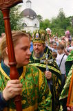 Orthodox people celebrate a Pentecost Royalty Free Stock Photography