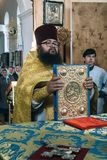 Orthodox priest in church Royalty Free Stock Images
