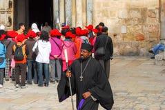 Orthodox Priest, Holy Sepulchre Church, Jerusalem Stock Photos