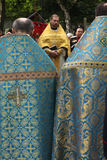 Orthodox priests attend the orthodox service Royalty Free Stock Photography