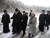 Orthodox priests. Stock Image