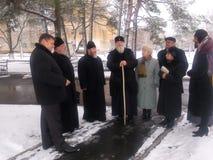 Orthodox priests. Royalty Free Stock Photo