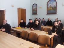 Orthodox priests. Royalty Free Stock Photos