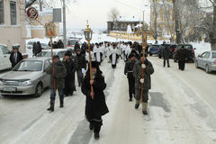 Orthodox procession stock photography