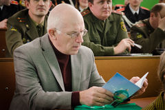 Orthodox reading at the Central library of the city of Gomel (Belarus). Stock Photo