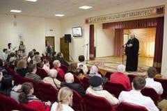 Orthodox readings in Gomel. Stock Photo