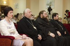 Orthodox readings in Gomel. Royalty Free Stock Photo