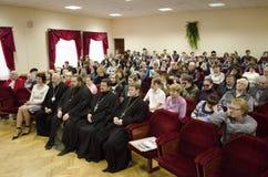 Orthodox readings in Gomel. Stock Image