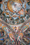 Orthodox religious art. Detail of the paintings which decorate the Church of the Rila Monastery. The Monastery of Saint Ivan of Rila is the largest Eastern Royalty Free Stock Photos