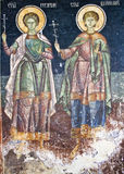 Orthodox religious painting. Old Orthodox religious church painting Stock Image