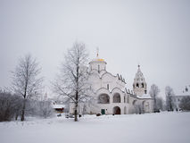 Orthodox Russia. Ancient cathedral in a Pokrovskiy Stock Photos
