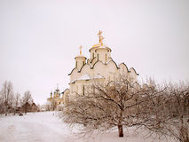 Orthodox Russia. Ancient cathedral in a Pokrovskiy Royalty Free Stock Images