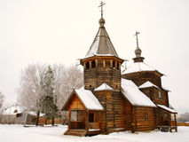 Orthodox Russia. Ancient wooden church Stock Image