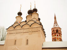 Orthodox Russia. Church and belltower. Stock Photo