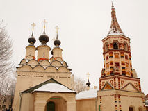 Orthodox Russia. Church and belltower Stock Photos