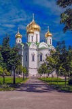 Orthodox Russian church. The famous Russian Orthodox temple Church of St. Catherine Stock Photos