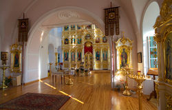 Orthodox Russian traditional church interior Stock Photo