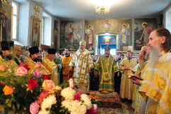 Orthodox service. Royalty Free Stock Photo