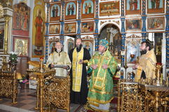 Orthodox service. Royalty Free Stock Photography