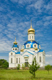 Orthodox temple. In a small village Novoselovka in Central Ukraine Royalty Free Stock Image