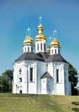 Orthodox temple. On the slope of mountain Stock Images