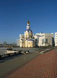 Orthodox temple. Russian orthodox temple. city of Belgorod Royalty Free Stock Images