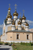 Orthodox temple on the background of blue sky. Stock Images