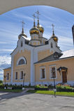 Orthodox temple on the background of blue sky. Stock Photos