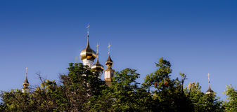 Orthodox temple with blue sky Stock Images