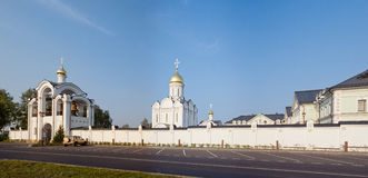 Orthodox temple buildings. Orthodox temple building. Temple and belltower Stock Photo
