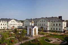 Orthodox temple buildings. Orthodox temple complex. The chapel, refectory Stock Images