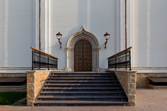 Orthodox temple buildings. The portal of the Church. The porch of the temple Royalty Free Stock Photos