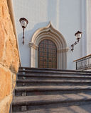 Orthodox temple buildings. The portal of the Church. The porch of the temple Stock Photography