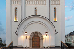Orthodox temple buildings. The portal or entrance of temple or church Stock Images