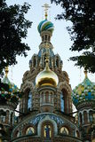 Orthodox temple. Fragment of the orthodox temple with the central dome Royalty Free Stock Images