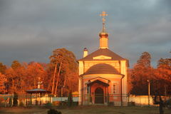 The Orthodox temple. In Russia Stock Images